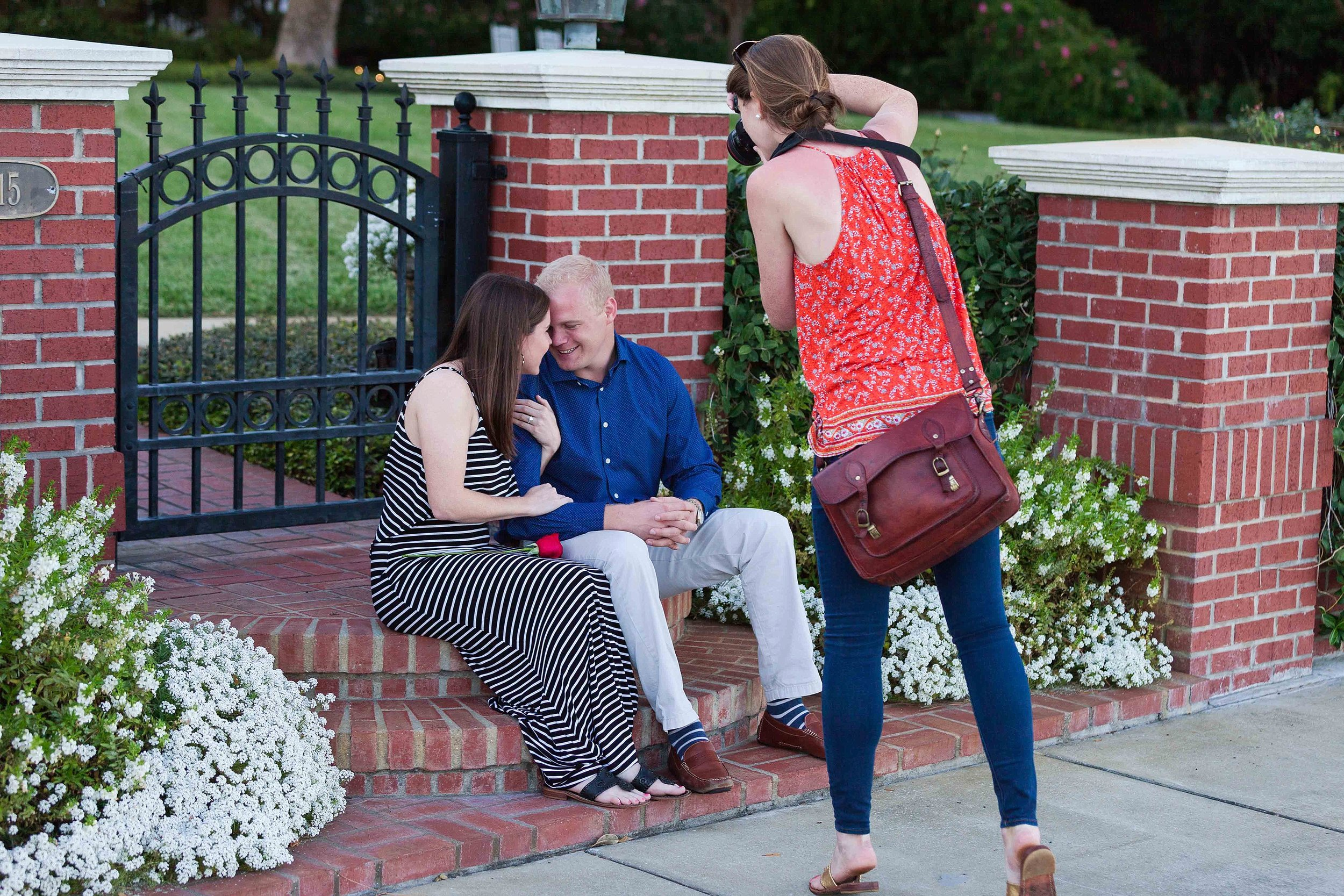 Then got to sneak a couple photos of the after engagement bliss!