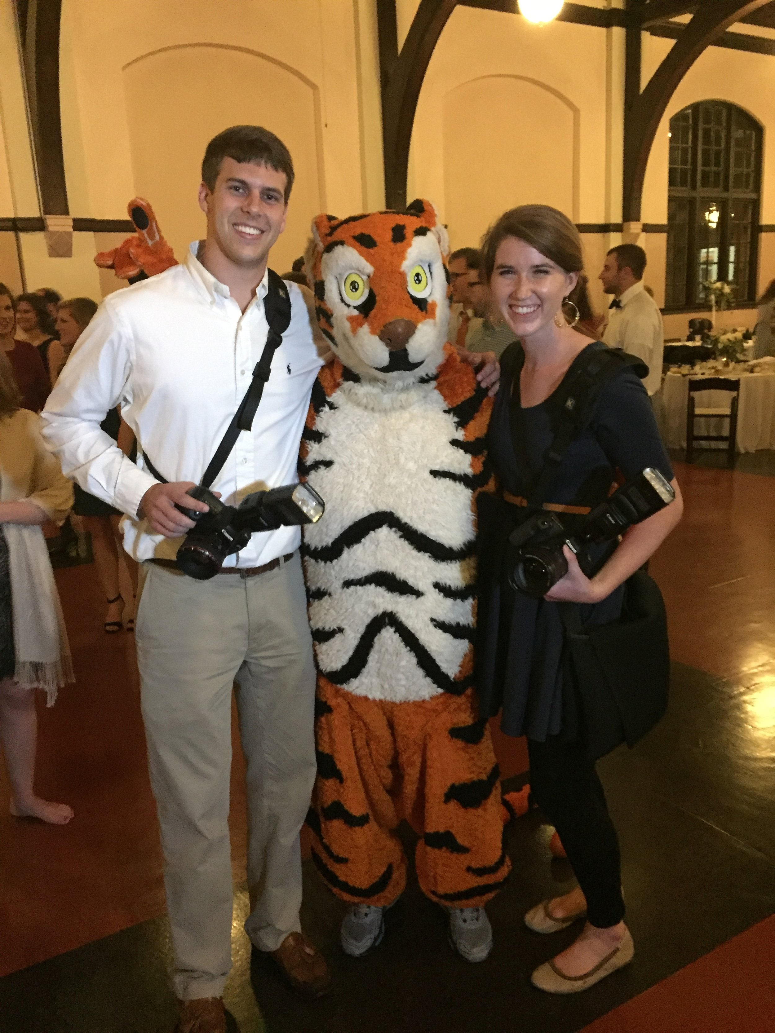 Look who we found!! Oh hey Clemson Tiger :)