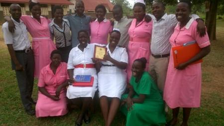The staff of Apapai HCIV celebrating their award