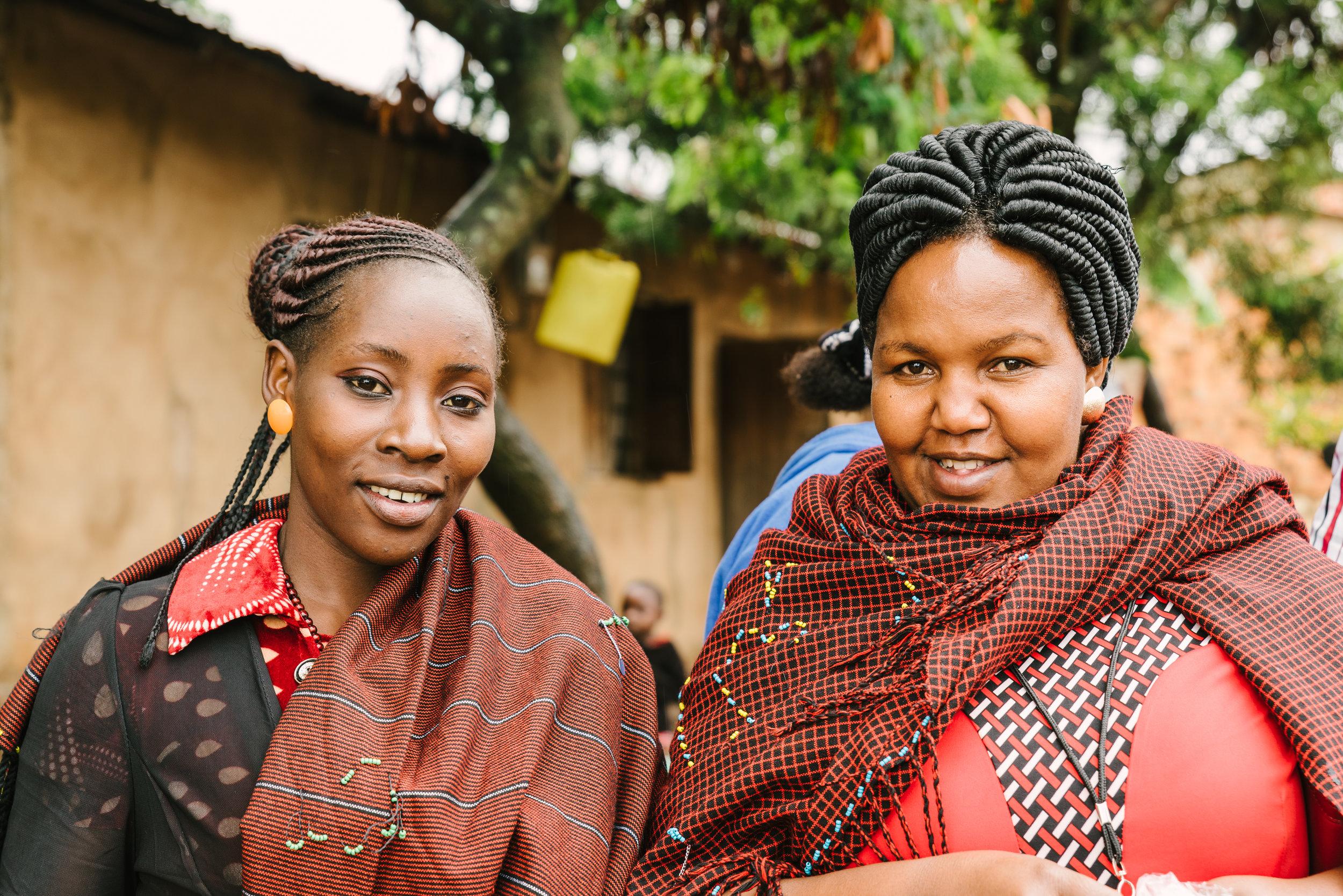 Valentina Vicent (left), ICAP COV Muleba District and Inviolata Antony (right), Registered Nurse Muleba District