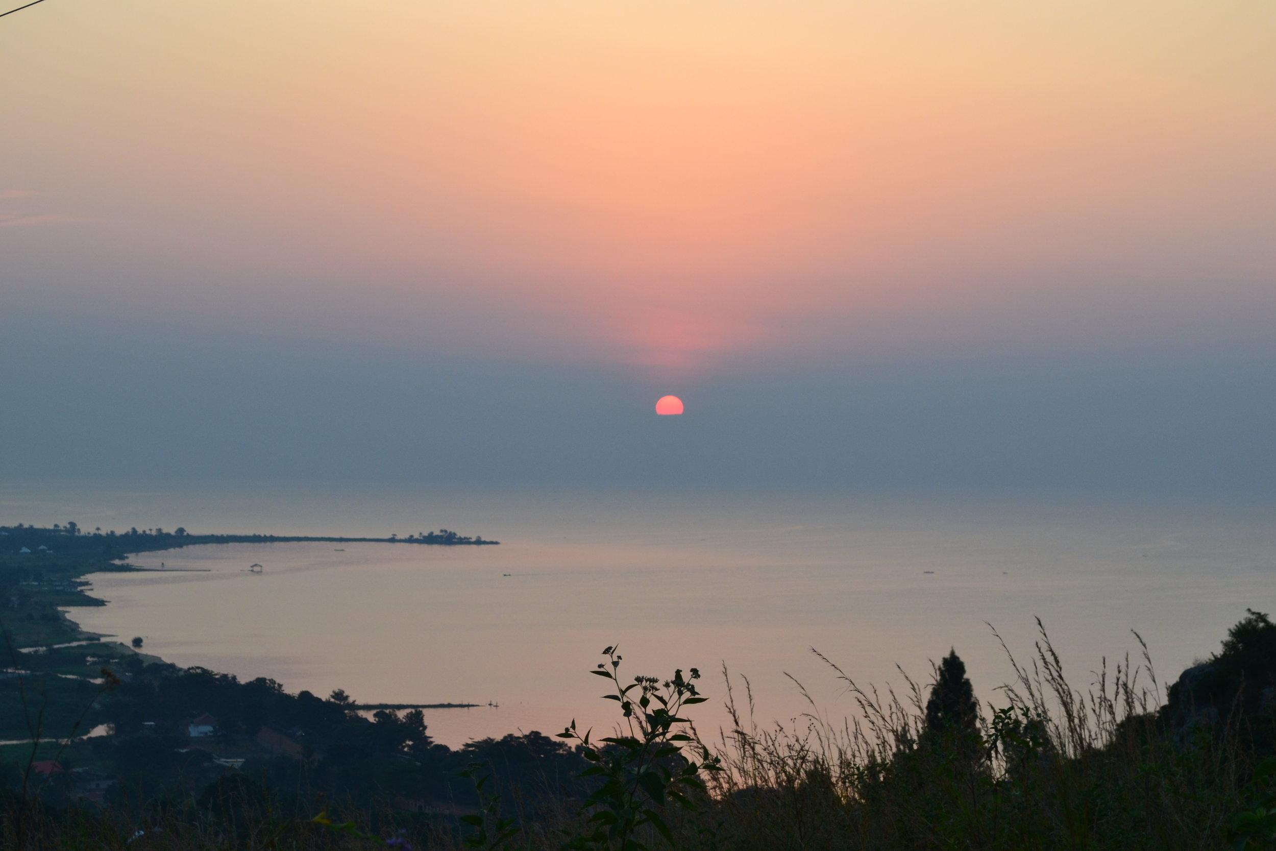 New beginnings: sunrise over Bukoba, Tanzania in June 2019.