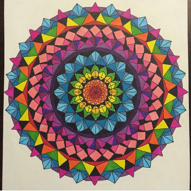 I discovered meditative coloring recently and it has expended my creative output significantly
