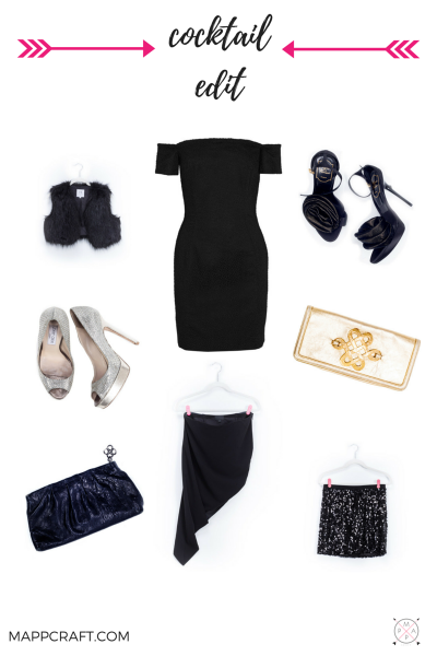 Mix and match black with festive details