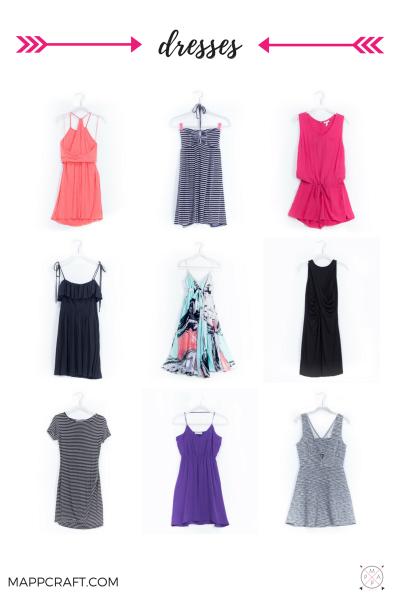 Dresses, jumpsuits, rompers, tunics