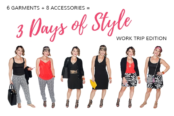 Capsule Packing Challenge:6 Garments + 8 Accessories = 3 Days, 6 Outfits, 1 Carry On