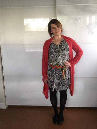 Graphic Shirt Dress, M