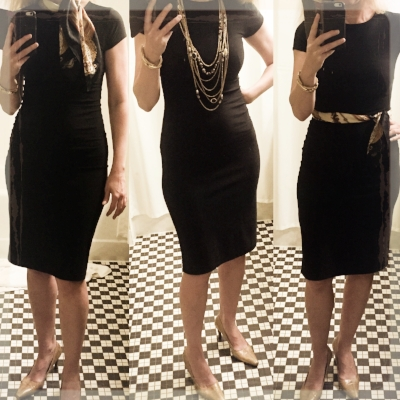 a 20 year old h&M lbd + cognac gucci pumps (goodwill score!) +  CLASSIC ACCESSORIES  = endless chic