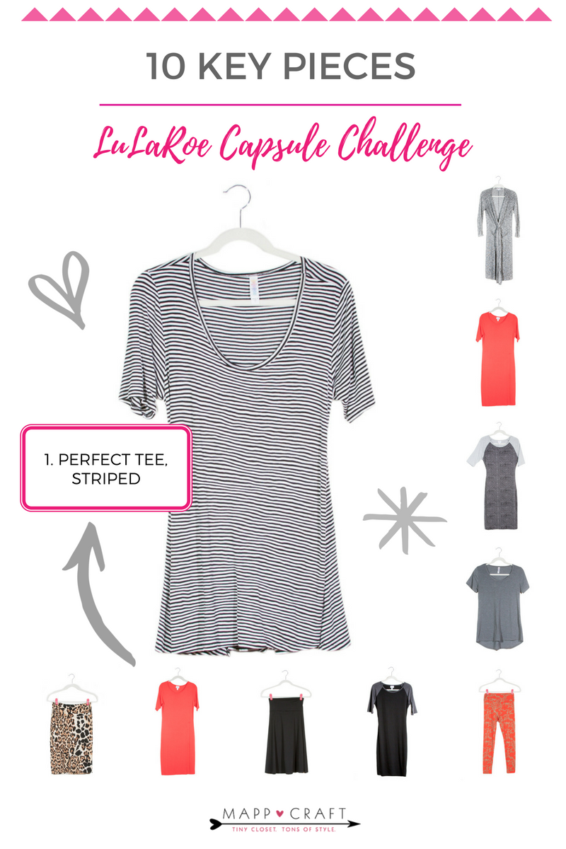 LuLaRoe Key Piece #1: Perfect Tee, Striped