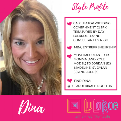 Many thanks to LuLaRoe Consultant Dina for introducing me to julia coral - Click this link to join her group!