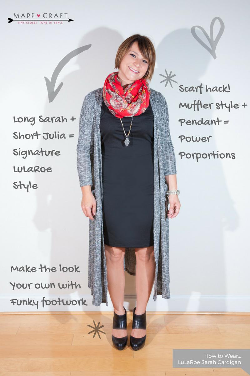LuLaRoe Key Piece #3 Sarah Cardigan | Sarah over Julia + Funky Footwear