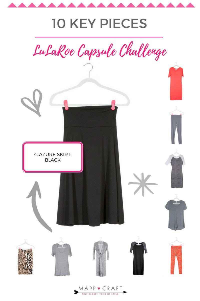 LuLaRoe Key Piece #4: Azure Skirt, Black