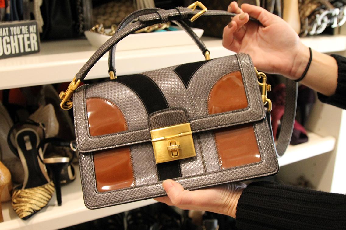 Dolce & Gabbana Rosalina Ayers Snakeskin Bag