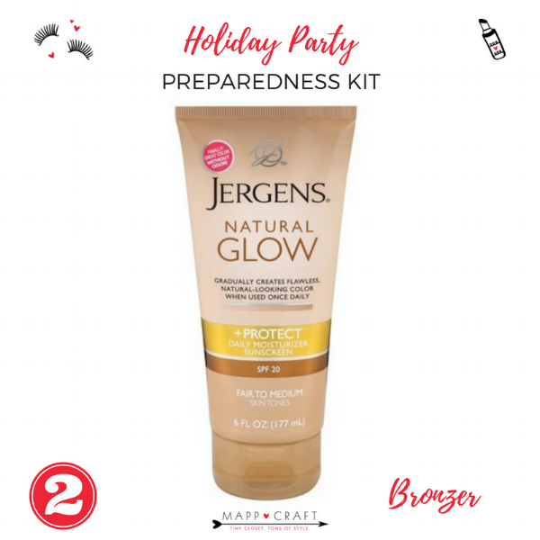 The Essential Holiday Party Preparedness Kit | Bronzing Lotion