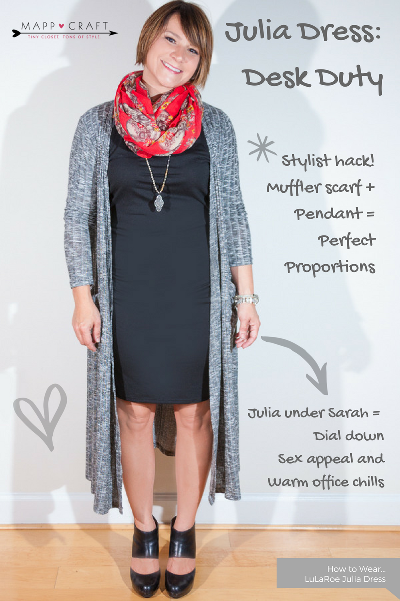 LULAROE CAPSULE CHALLENGE | KEY PIECE #8 JULIA DRESS BLACK AND GREY
