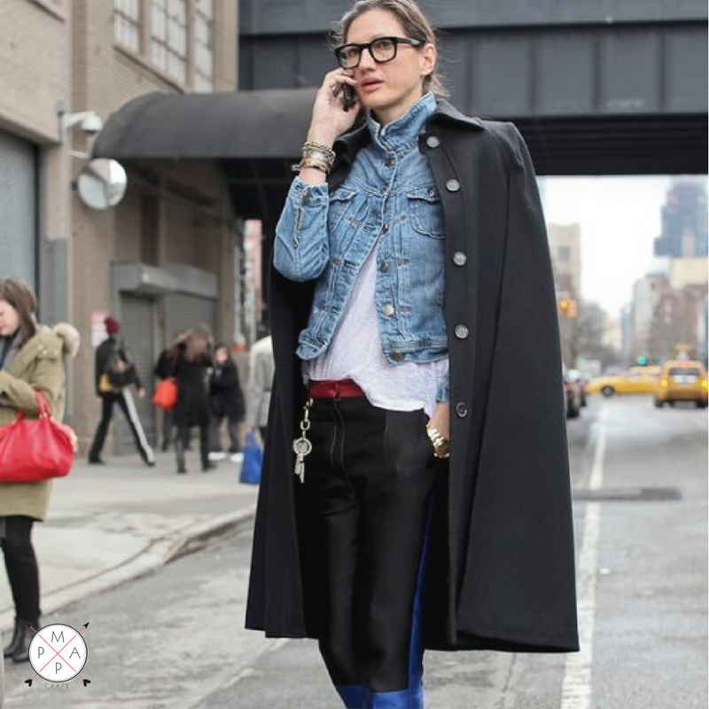 MappCraft | How To Layer for Spring 2017: Jenna Lyons Denim Jacket