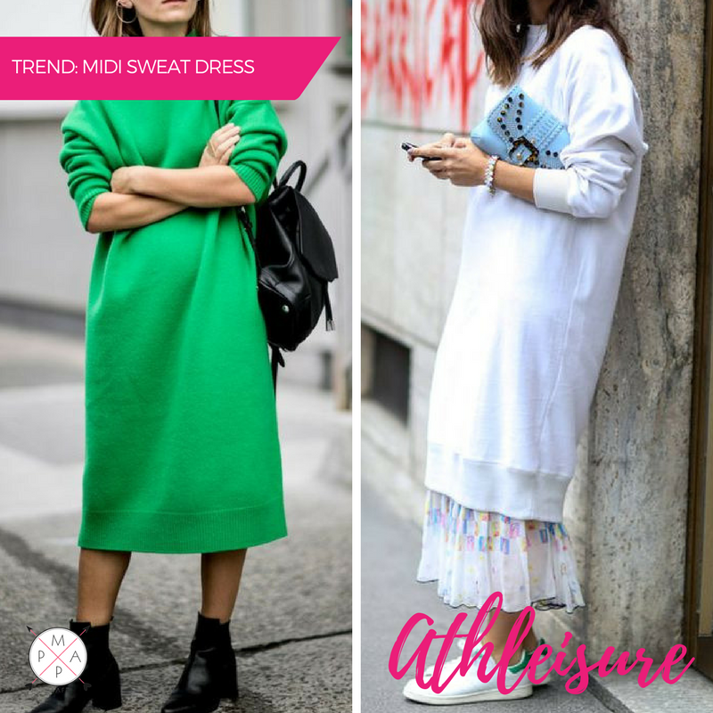 MappCraft | Spring '17 Street Style Trends: Athleisure Oversized Sweatshirt Dress