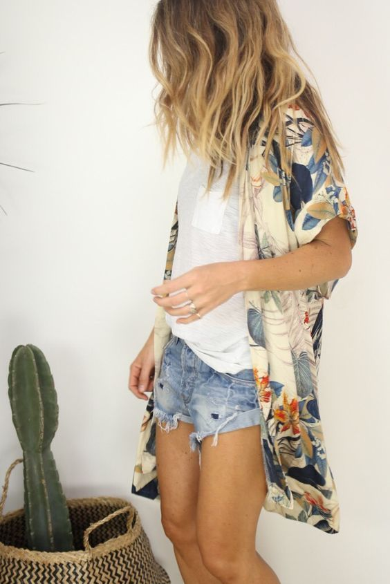 Summer Outfit Formula #1: Kimono Over Anything