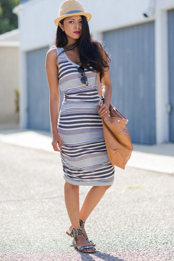 Summer Outfit Formula #4: Stripes + Sunhat