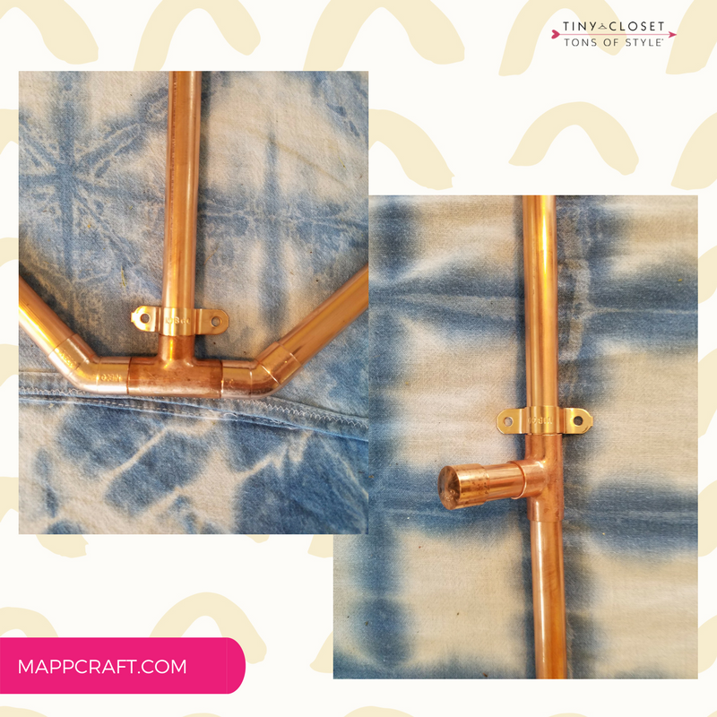 MappCraft Project: DIY Copper Outfit Valet by Jillian Kirby