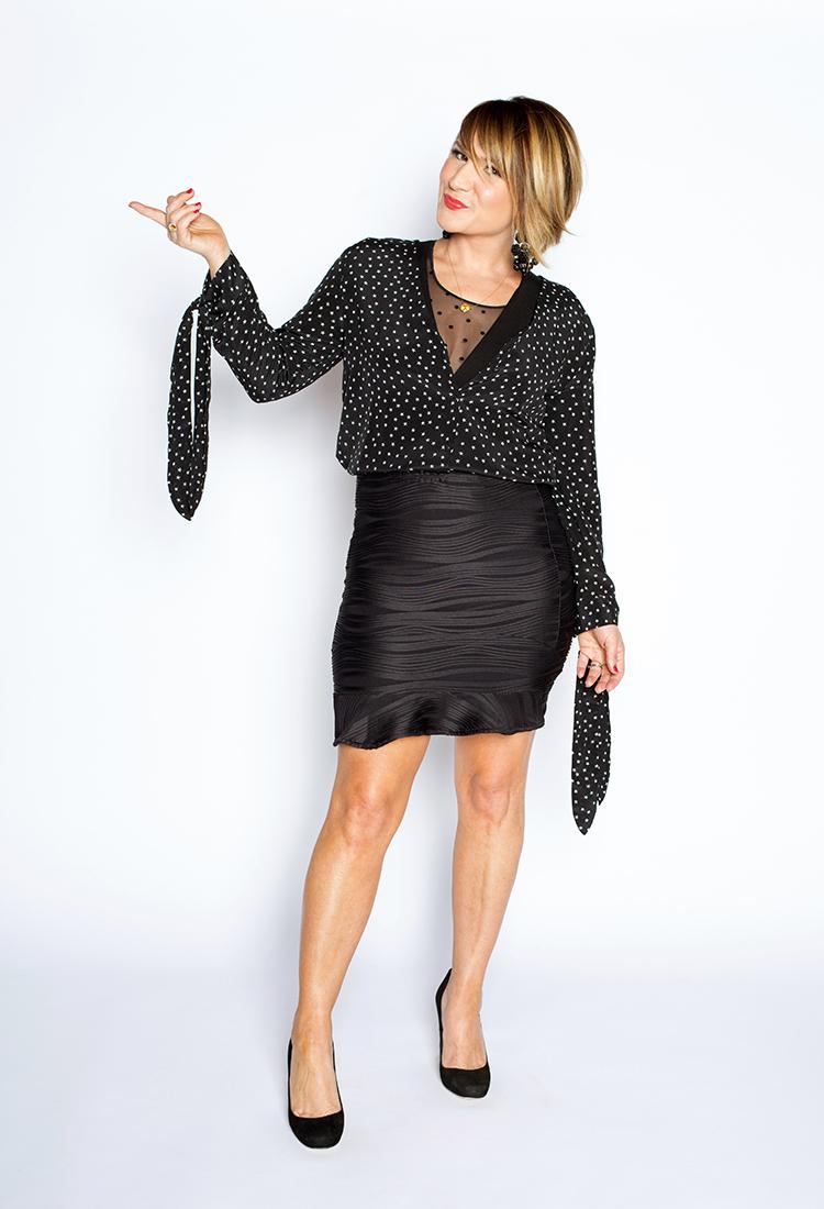 Key Holiday 2017 Layers - Short Sleeve Bodysuit, Sheer Spanx Arm Tights