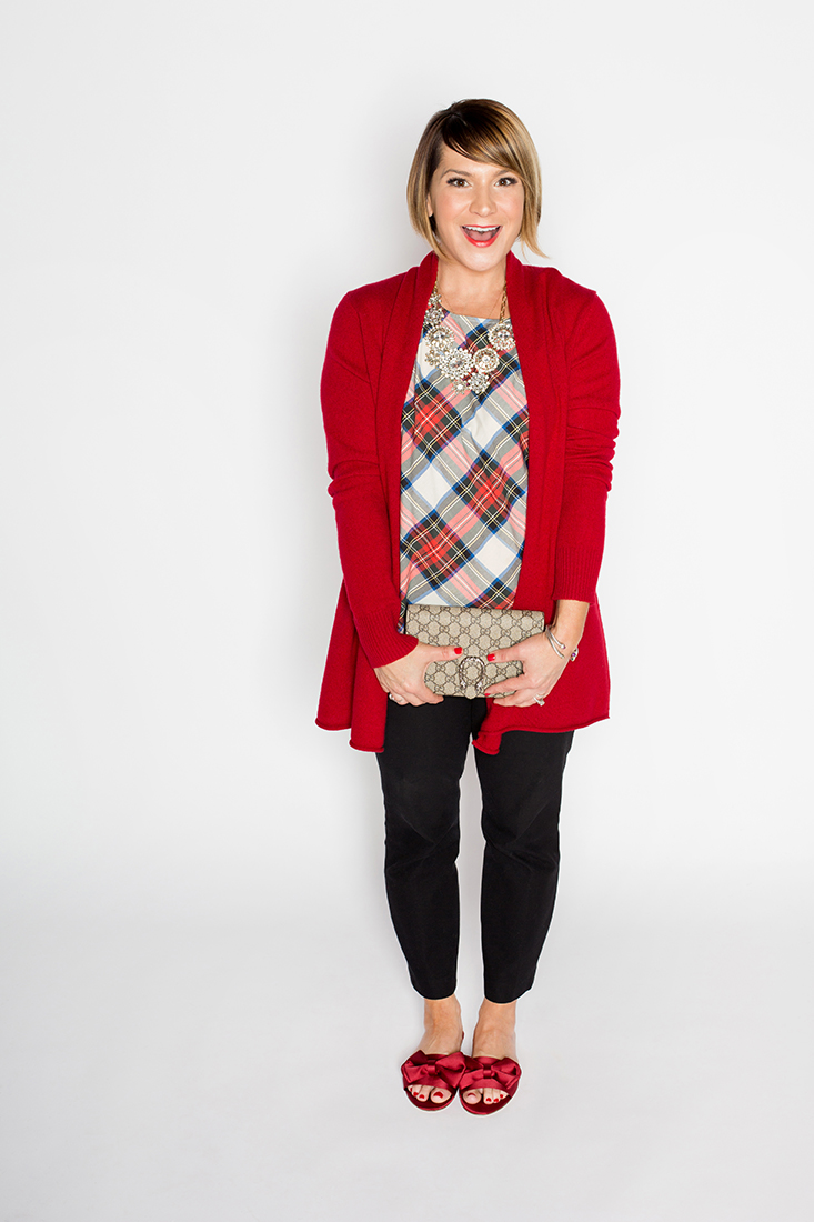 Key Holiday Classic: Open Cardigan, Ankle Pant