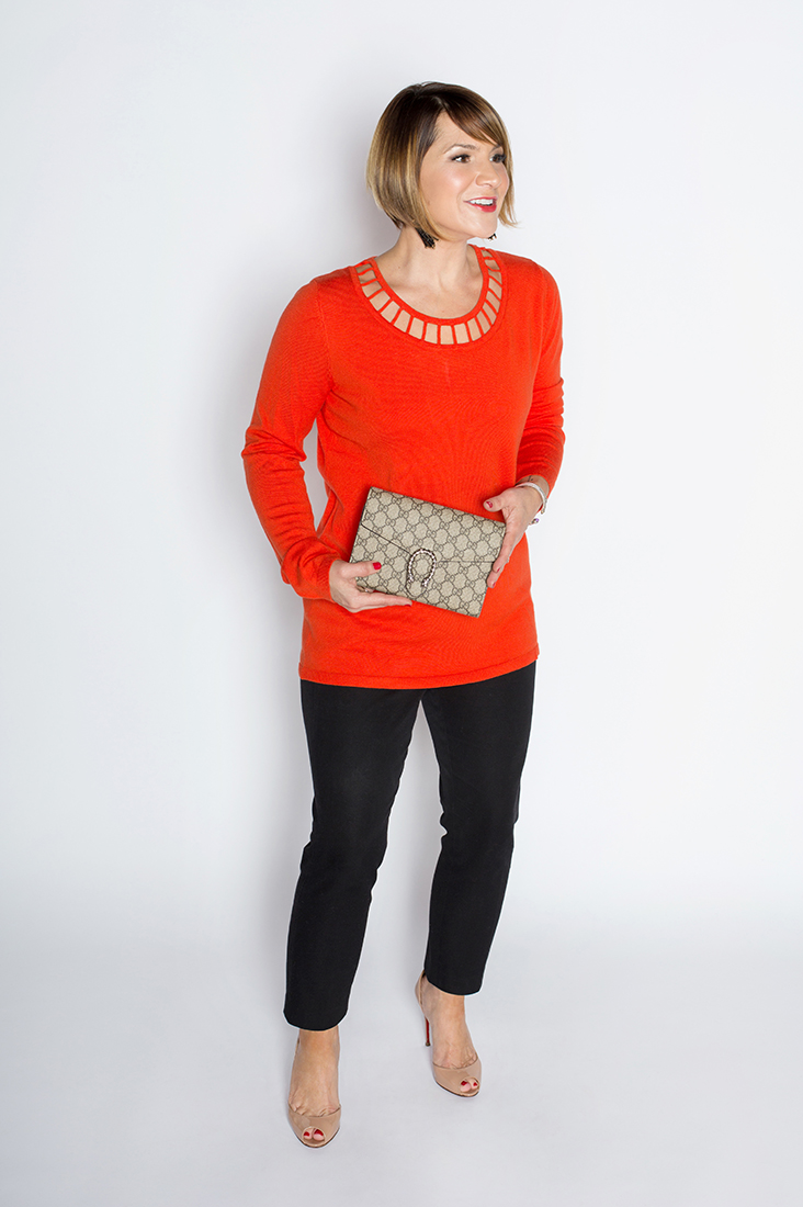 Key Holiday Classics: Red Sweater, Ankle Pant