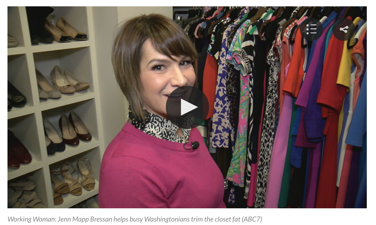 As seen on: ABC7 WLJA with Alison Starling - Jenn helps busy Washingtonians trim the closet fat...