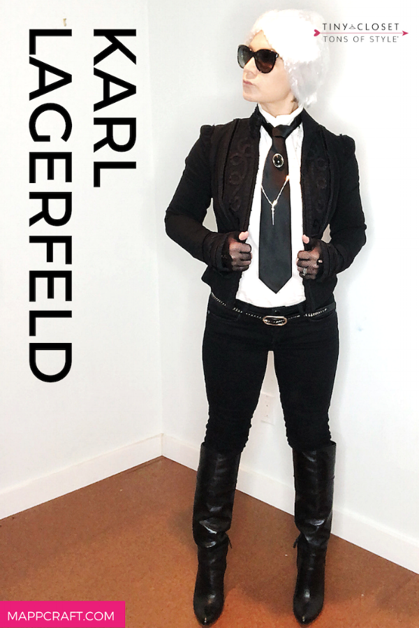 MappCraft | Last Minute Halloween 2018 Costume Idea #1:  Karl Lagerfeld