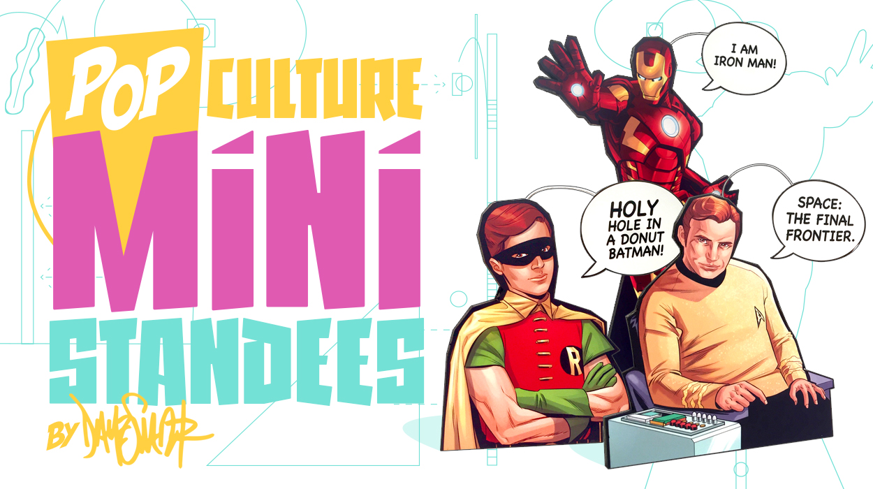 POP Culture Mini Standees - Dave Swartz Art