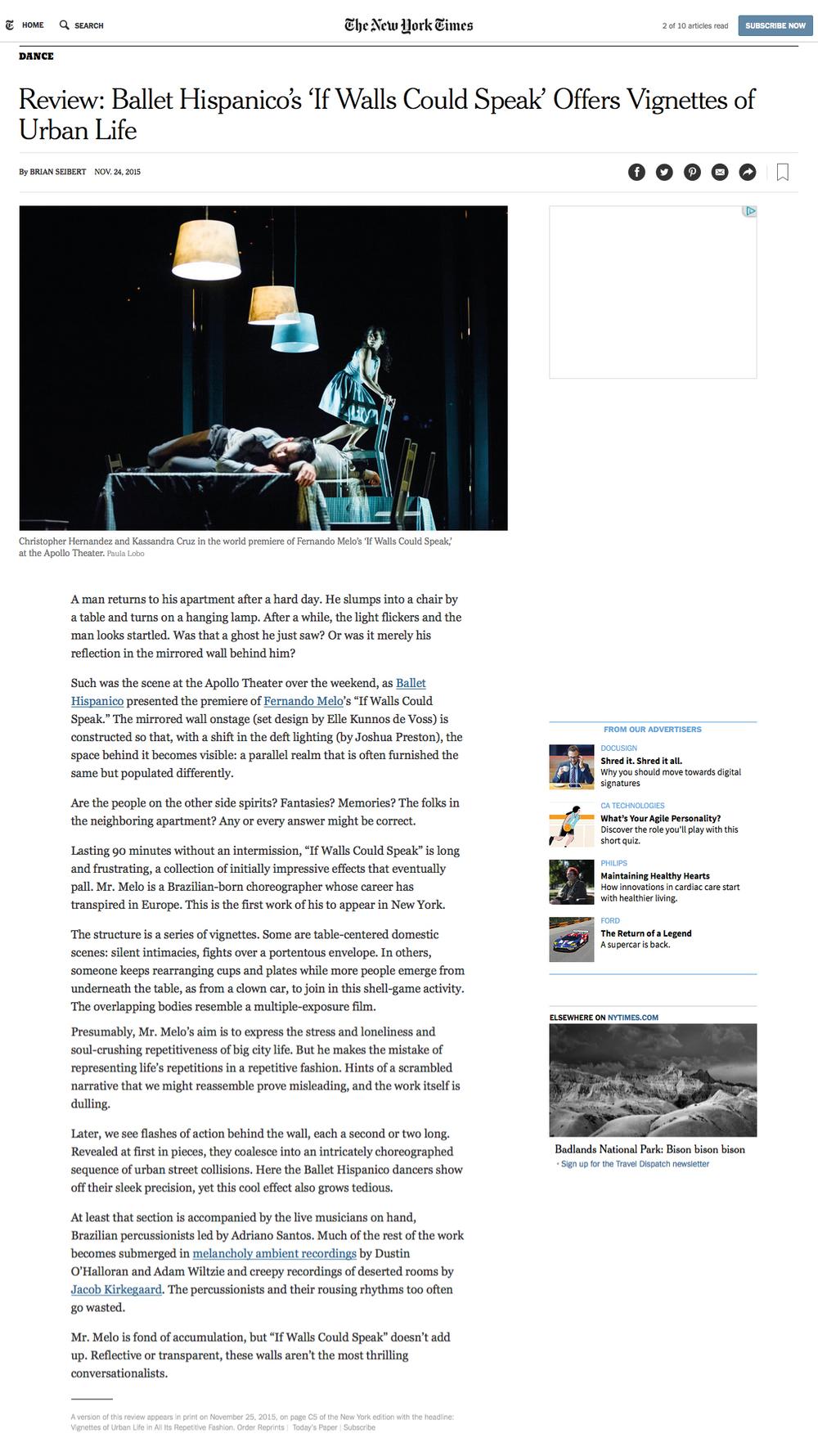 New York Times — ELLE KUNNOS DE VOSS
