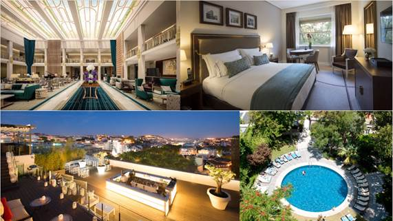 Timeless elegance. This five-star hotel boasts an unbeatable city center location near shopping, restaurants and sites. End a perfect day lounging by the outdoor pool or on the rooftop bar with sweeping views of Lisbon.