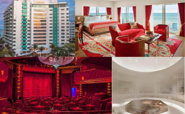 Art Deco masterpiece. Miami's golden age of glamour is reborn in this new downtown icon. Nestled in the trendy Faena District, the oceanfront stunner spoils you with butler service in each guest room.