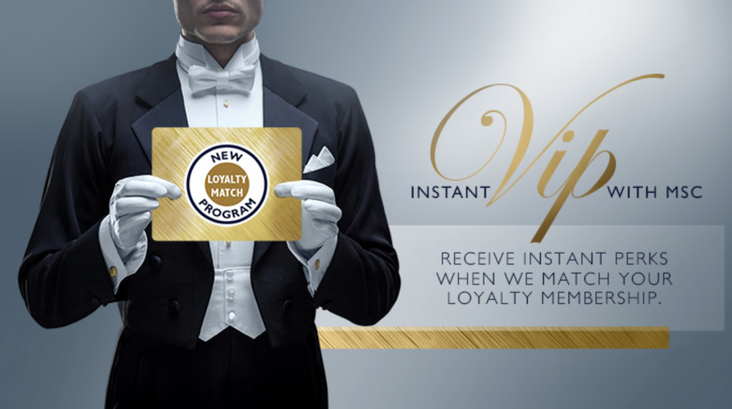 MSC Cruises Loyalty Match Program