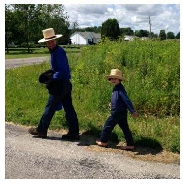 Daniel walking with Gideon.