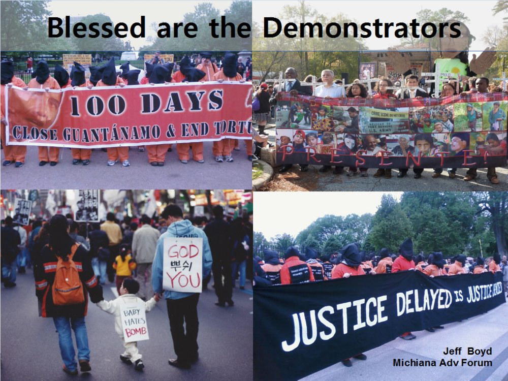 Blessed are the Demonstrators,  Jeff Boyd