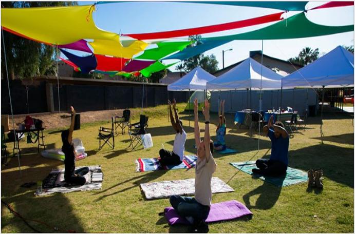 'Adventist'Yoga at Camelback SDA Church, Arizona