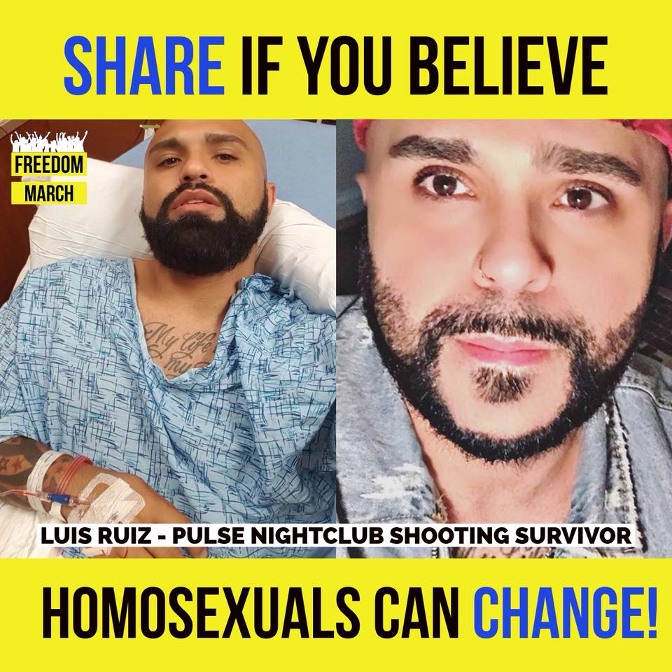 Meet Luis Ruiz (Pulse nightclub shooting survivor):  I should have been number 50! Going through old pictures of the night of Pulse, I remember my struggles of perversion, heavy drinking to drown out everything and having promiscuous sex that led to HIV. My struggles were real ! The enemy had its grip, and now God has taken me from that moment and has given me Christ Jesus. I've grown to know His love in a deeper level. 2 out of the 49 were my close friends and are no longer with us. They lost their life that night. I should have been number 50 but now I have the chance to live in relationship and not religion - not just loving Christ but being in love with Christ and sharing His love. I know who I am and I am not defined with who the enemy says I use to be - but who Christ Jesus says I am.  #FreedomMarch