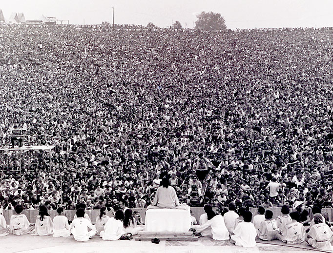 """Swami Satchidananda gives the """"invocation."""""""