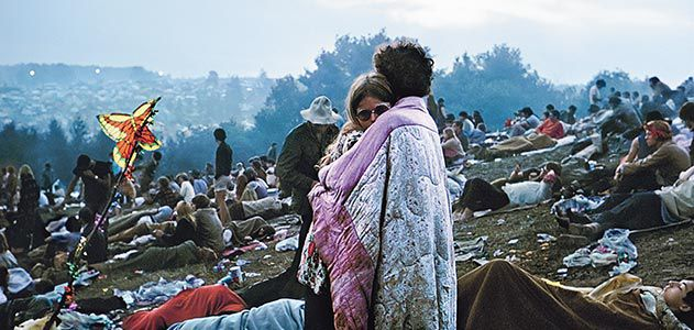 Dawn at Woodstock, on August 17, 1969.