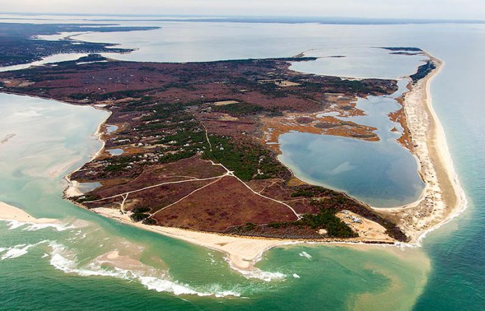 Ariel view of Chappaquiddick Island