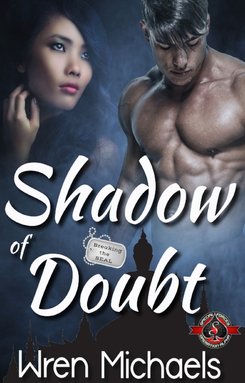 "Shadow of Doubt - Kamon ""Shadow"" Aromdee just wants to lay his mom to rest. Her last request was to have her ashes spread near her husband in his native Thailand. Kamon hopes while he's there, he can unlock the mystery of his absentee father and finally get closure on that chapter of his life.Malia ""Tiger"" Danpae finally has the chance to fulfill her life's mission as she goes deep undercover at the side of the infamous drug lord, Thet Yaza. Though it's only supposed to be a recon assignment, she's got one shot at taking down the man who killed her parents. The problem is, the CIA wants him alive. Malia doesn't.A chance meeting on a plane entwines their lives and their hearts. But when his father's past comes back to haunt him, Shadow's sucked deep into the underground world of a drug cartel, and is shocked to find Malia a part of it. Devastation and betrayal drive a series of bad decisions that put both their lives in danger. With the help of former Navy SEAL, John ""Tex"" Keegan, and Shadow's SEAL teammates, he must push through the doubt of his past and come to grips with the fact that love isn't always black and white."