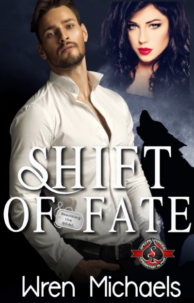 """Shift of Fate - Sylvia Schneider loves her some Navy SEALs, but only the ones she creates digitally for the video game she's producing with Noah Wright. Devastated by the death of her military fiance, she hasn't dated in two years, much less left her apartment. But when Noah asks her to introduce the new game at a convention in Vegas, she's forced out of the house and her shell. To top off her already building anxiety, she's been getting nastygrams from someone claiming she stole their game design. Threats on her life send her to Gerri, owner of the Paranormal Dating Agency, for a shifter bodyguard. Sylvia is adamant that it's just for the weekend, and just for an escort, and not that kind of escort.Braxton """"Brawn"""" O'Brien was the runt of his pack. He left home to make a name for himself as a Navy SEAL, where as even the smallest wolf, he towers among the humans, using his preternatural abilities to save lives. But lately his wolf side has been battling anger issues, and the rage inside him cannot be quelled. He's forced into medical leave to figure out what the problem is, or his military career is over.When Gerri hooks Braxton up with a bodyguard gig while on leave, he hopes she can also find him a mate to satisfy the beast roaring inside him. One look at his charge, Sylvia, and he knows she's the one. The problem is then convincing the spunky, yet shy human of the same. When the threats on her life turn into attacks, Braxton will hunt until his last breath to keep his mate safe. But Sylvia's got secrets of her own, that may make or break the mating bond."""