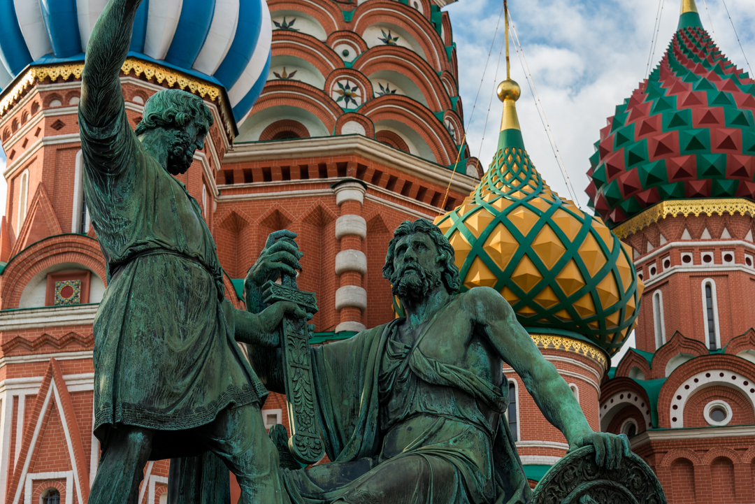 Minin and Pozharsky Statue in front of St. Basil's Cathedral
