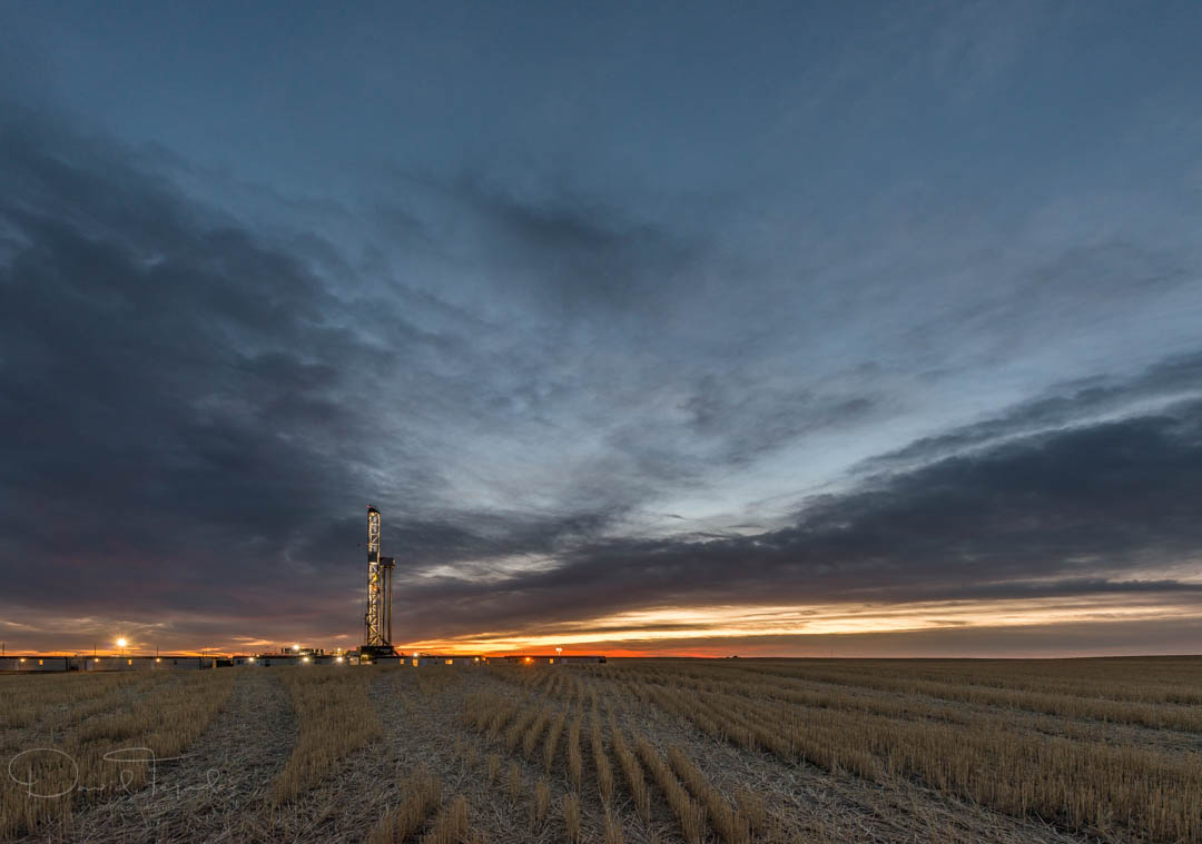 Sunrise on the eastern plains, Colorado