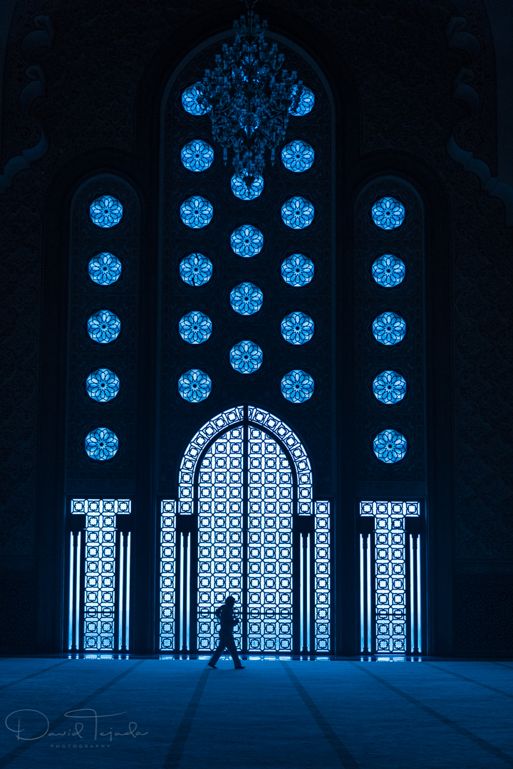Inside the Hassan II Mosque.