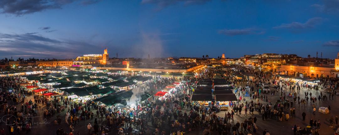 Djemaa el Fna, Marrakech, Morocco.