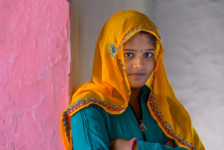local village, India