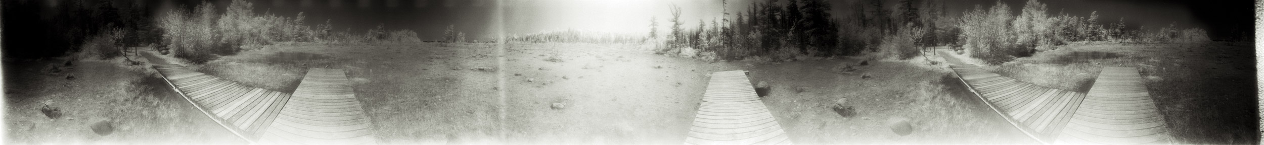 Into a marl pond