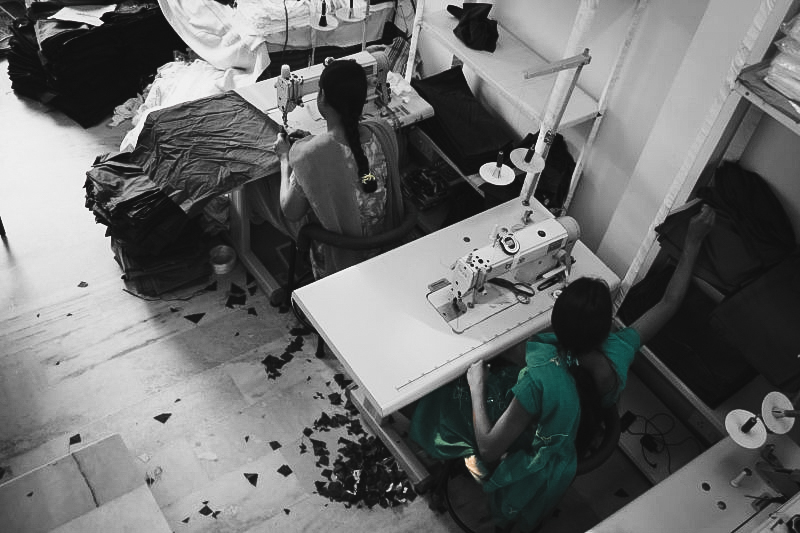 Urban Poverty. Women Sewing.