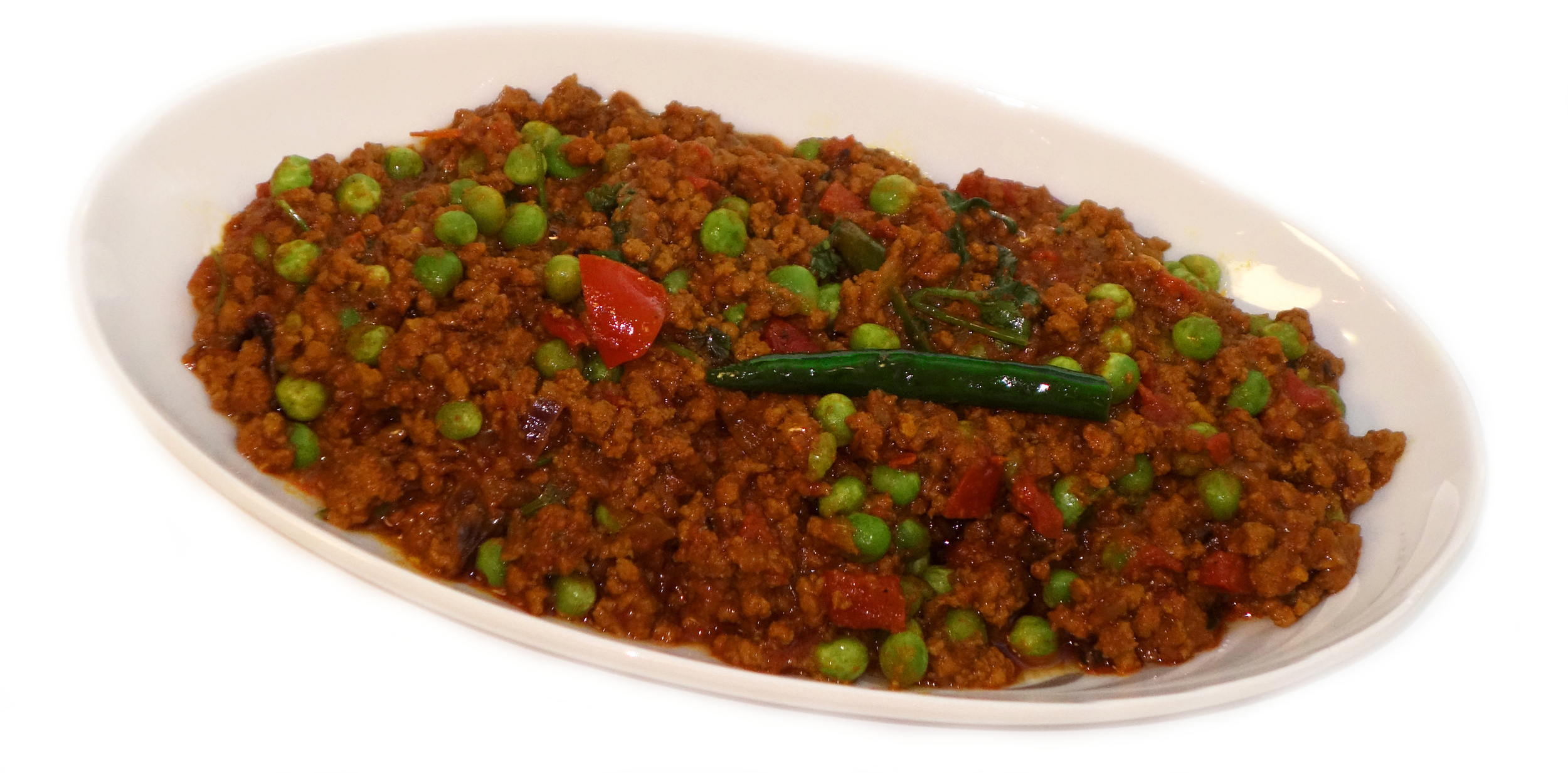 QUEEMA MATAR    Spicy Ground Beef with Peas